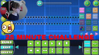 Geometry Dash 25 MINUTE LEVEL CHALLENGE (My first level ever) ~ ChrisCredible Attempts.