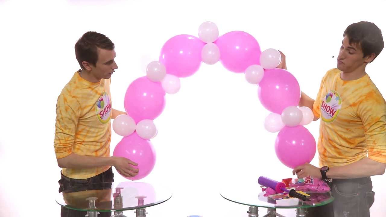 Изготовление гирлянд из шаров своими руками