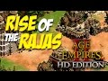 AGE OF EMPIRES 2 HD Edition - RISE of the RAJAS (DLC) | BATALLANDO ONLINE #24