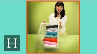 Marie Kondo's Trick For Folding T-Shirts