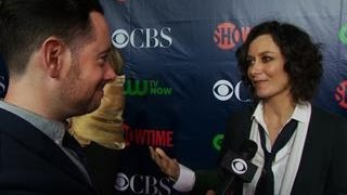 Fall Previews - CBS Press Tour Red Carpet: Sara Gilbert