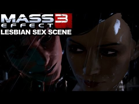 Mass Effect 3 - Specialist Traynor Lesbian Shower Sex Scene video