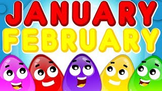Months Of The Year Song | Baby Songs For Children | Nursery Rhymes By Crazy Eggs