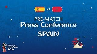 FIFA World Cup™ 2018: ESP vs MAR: Spain - Pre-Match Press Conference
