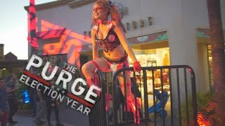 Scare Zones: The Purge at Halloween Horror Nights 2016 Universal Studios Hollywood