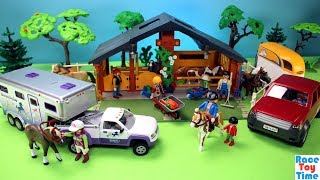 Playmobil Horse and Pony Ranch Playset Build and Play Fun Toys For Kids