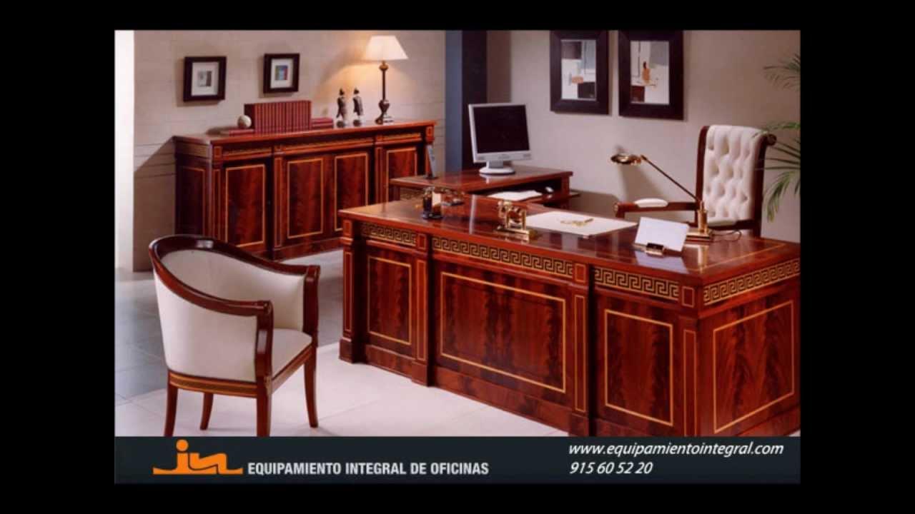 Decoraci n de oficinas estilo cl sico equipamiento - Decoracion despacho abogados ...