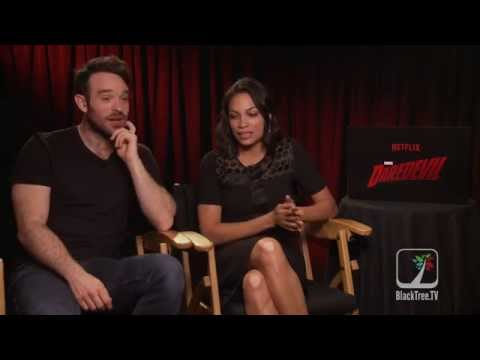 Marvel's Daredevil interview w/ Rosario Dawson & Charlie Cox