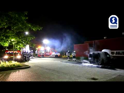 Dienstauto in brand bij Stichting Zonhove in Son en Breugel