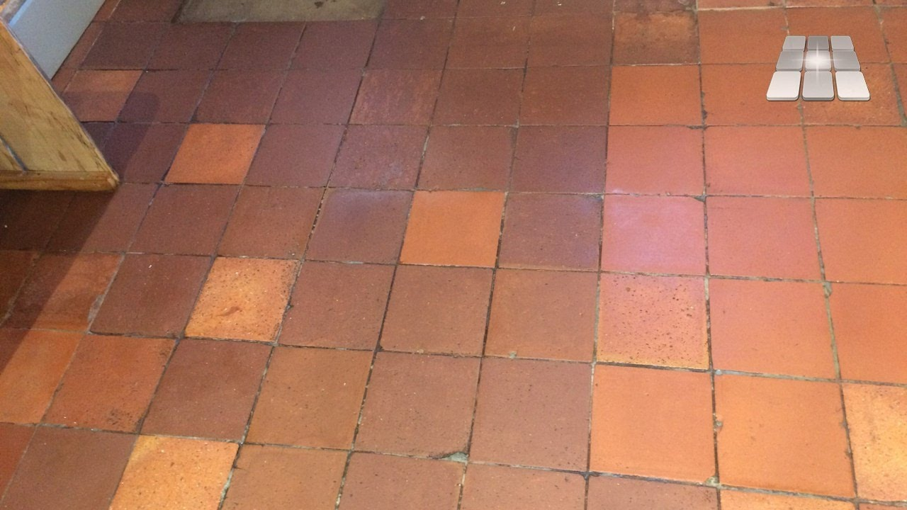 Quarry tile flooring