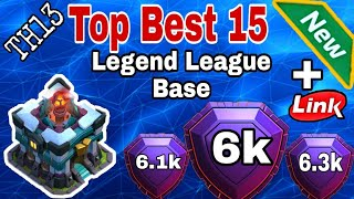 TH13 Amazing + Popular Top 15 Trophy Base | New Amazing Trophy Base Th13 With Link (January 2020)