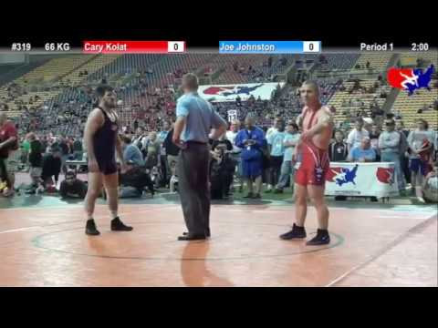 66 KG: Cary Kolat (NCRTC) vs. Joe Johnston (Gator Wrestling Club)