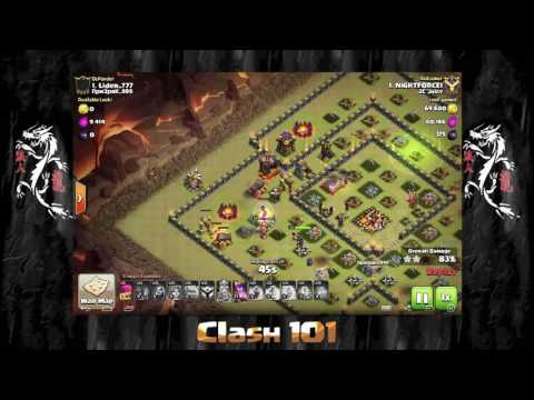 3 star the number 1 base in WAR with valks! EPIC 3 star to win the war!