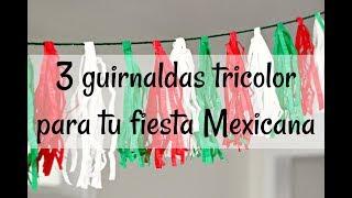 Download Lagu 3 guirnaldas tricolor para tu fiesta Mexicana -Una Mexicana en USA Gratis STAFABAND