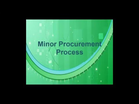 IFMS - Minor Procurement