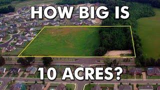 How big is 10 acres?