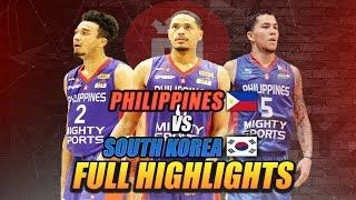 MIGHTY SPORTS PHILIPPINES FULL HIGHLIGHT vs KOREA   July 16, 2019   2019 William Jones Cup