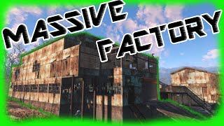 Fallout 4 - Massive Factory Build with Three Story Conveyor Belt System