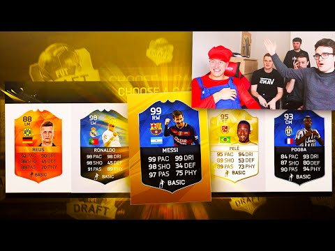 HUGE YOUTUBER FIFA 16 FUT DRAFT!! - 5 INSANE FUT DRAFTS!!