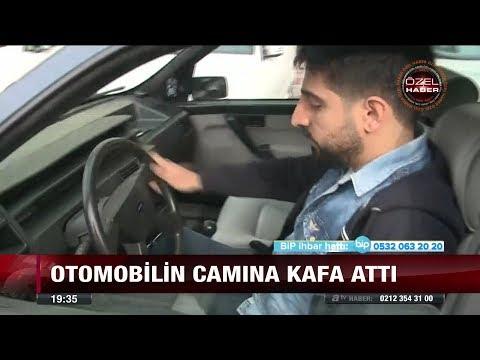Otomobilin camına kafa attı - 18 Aralık 2017