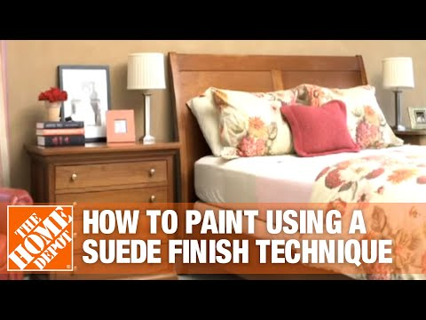 How To Apply A Suede Finish Technique The Home Depot