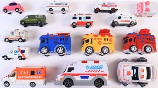 Learning Types of Ambulance for Kids Children Toddlers Babies | Educational video | Kids Toys | cars
