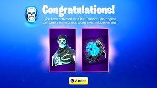 The NEW Fortnite SKULL TROOPER CHALLENGES! (How To Get Skull Trooper Backbling)