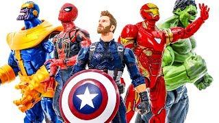 EndGame Avengers Defeat Thanos. Hulk, Spider-Man, Iron-Man, Captain~ Go Go Go #Toymarvel