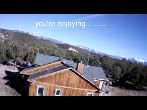 AR.Drone 2 flight with crash breaking propeller shaft