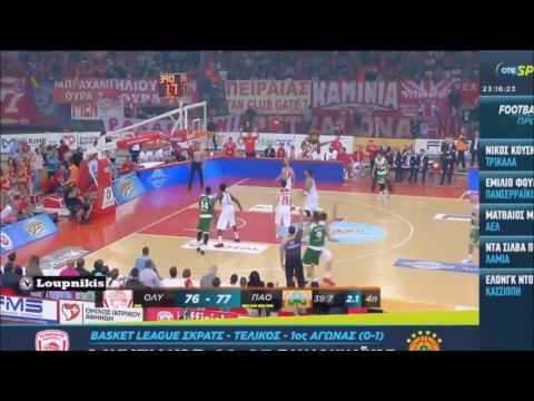 Olympiakos vs Panathinaikos (81-83) Basket League Finals {Highlights}