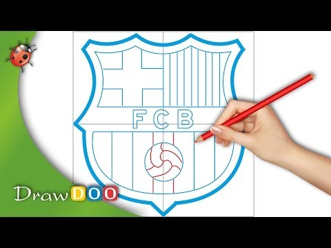 FC Barcelona Logo from FIFA logos Drawing Tutorial