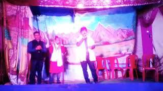 सरस्वती पूजा-2019 में आदर्श सरस्वती पूजा समिति सड़रा के मंच से मिथिलारत्न भाई अरविंद सिंह जी।