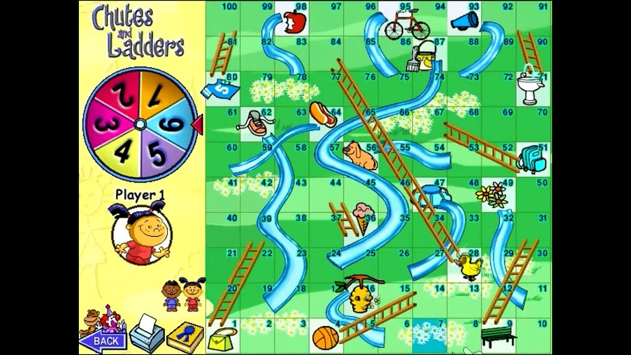 Chutes and Ladders PC Board Games Review - YouTube