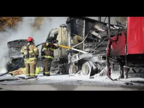 I-94 crash and fire shuts down freeway