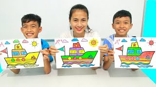 Rainbow Boats, Warna-Warni Belajar Menggambar dan Mewarnai untuk Anak