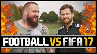 FOOTBALL VS FIFA WITH TRUE GEORDIE!