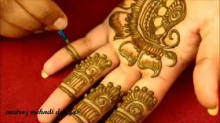 Simple Arabic Henna Mehndi Designs* Easy Arabic Mehndi Designs for Hands