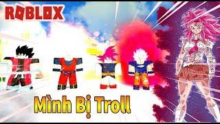 Roblox - Mình Biến Thành SSJR Bị Thanh Niên LSSJ Troll - Dragon Ball Burst