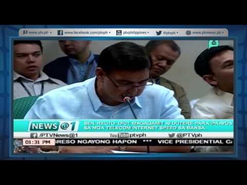 [News@1] Sen Recto. DICT, magagamit ni Duterte para ipaayos sa mga Telecom Internet speed ng bansa
