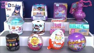 Unboxing Surprises Toys Disney Happy Places Shopkins Kinder Joy Surprizamals 7 Kids Fun