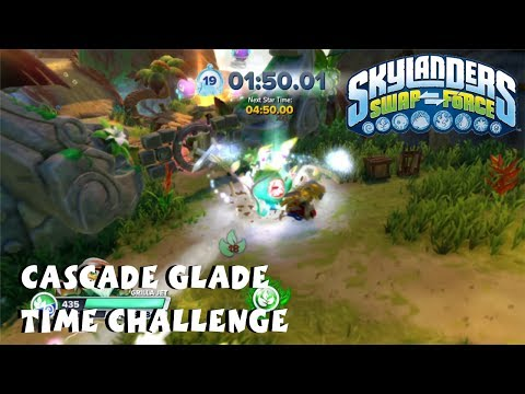 Skylanders Swap Force - Chapter 2: Cascade Glade Time Attack - 3-Star Walkthrough