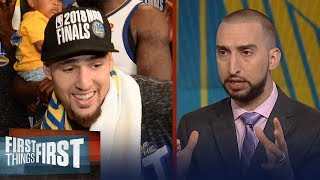 Nick Wright on Klay saying NBA must get better to compete with Warriors | NBA | FIRST THINGS FIRST