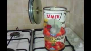 STİRLİNG ENGİNE TÜRKİYE - konserve stirling-CANNED FOOD BOX STİRLİNG ENGİNE.mp4