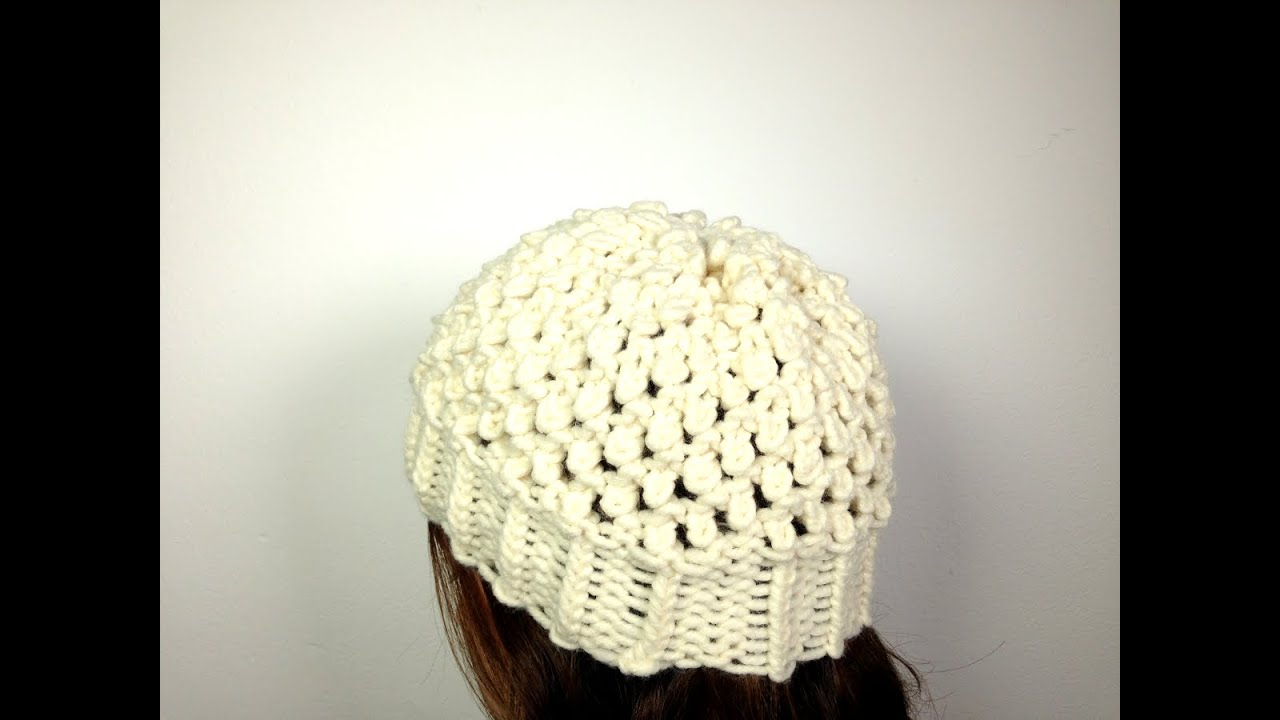 Knit Popcorn Stitch Hat Pattern : Popcorn Stitch Knit Hat Pattern images