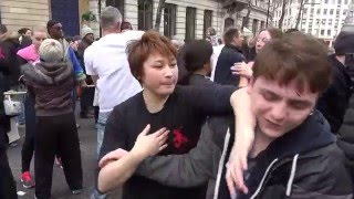 Wing Chun girl showing off her skill in  central London !!!