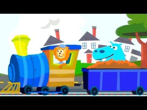 Развивающие Мультики - паровозик в зоопарке - учимся считать до 5 - обзор детского приложения Zoo Train