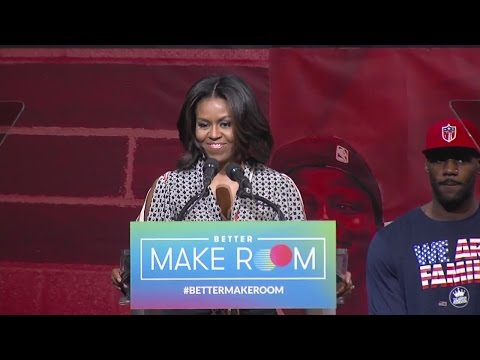 Michelle Obama, LeBron James visit University of Akron