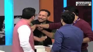 LIVE TV Debate में दिखी नेताओं की गुंडई, SP-BJP प्रवक्ता आपस में भिड़े | Fight | News Channel