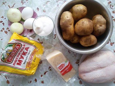 Запеканка картофельная с курицей Рецепт сытной запеканки