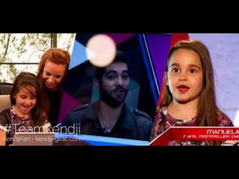 Kendji Girac - message pour Manuela Diaz sur the voice kids 3